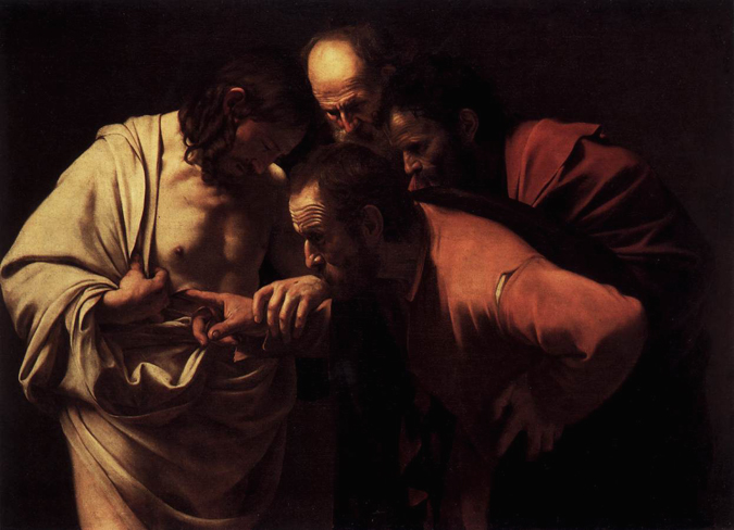 The Incredulity of Saint Thomas - Caravaggio, 1601