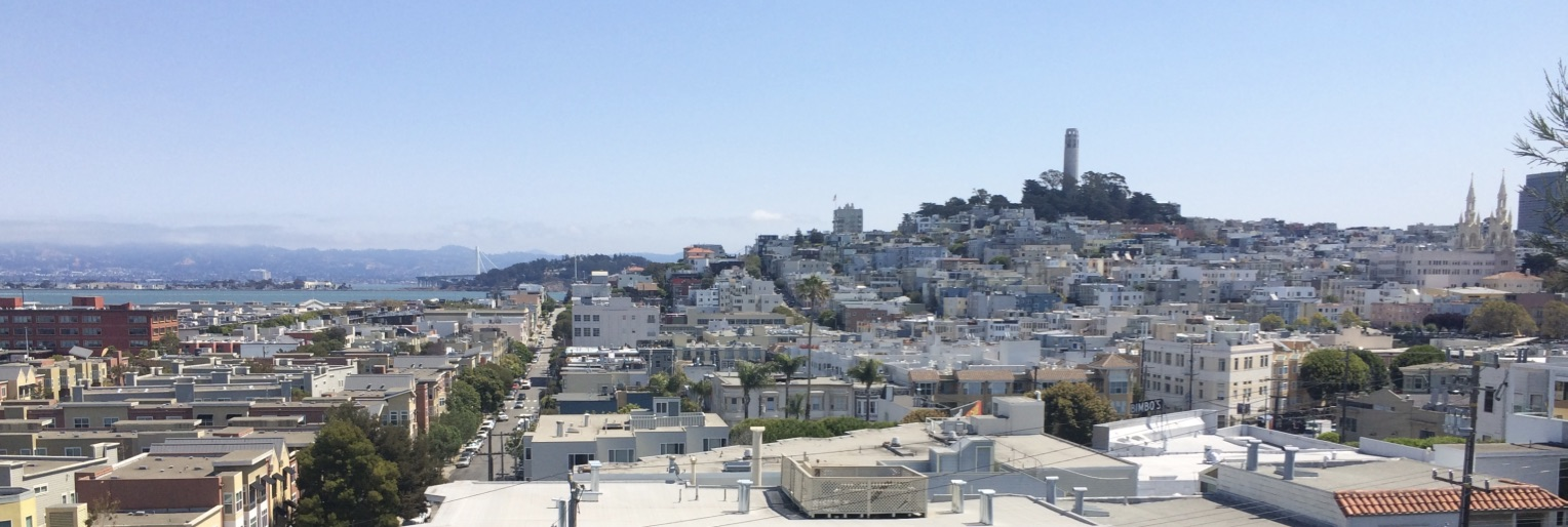 View of Russian Hill and North Beach, SF